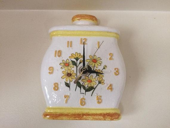 Vintage Sears & Roebuck Daisy Clock (1976) (Ceramic)(RARE)