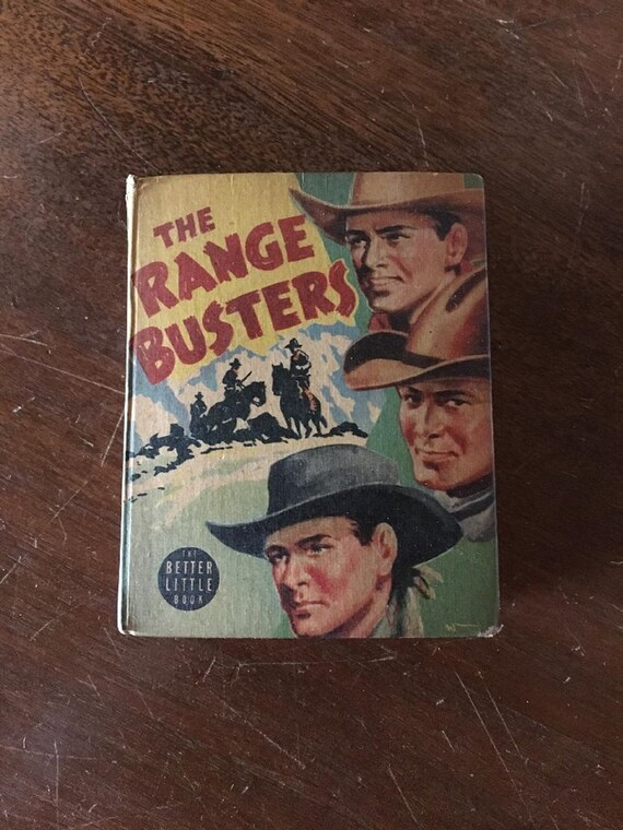 RANGE BUSTERS in Saddle Mountain Roundup (1942) Better Little Book (Whitman)