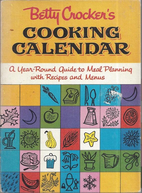 Betty Crocker's Cooking Calendar 1962 1st Edition/Printing