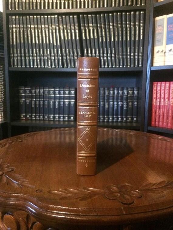 Decision at Leyte Stanley L Falk Easton Press (Leather Bound)