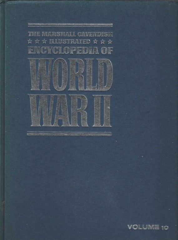 The Marshal Cavendish Illustrated Encyclopedia of World War II   (Volume 10)  The Invasion of Italy/Guadalcanal   (1972)