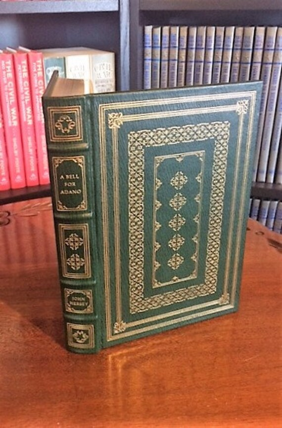 A Bell For Adano by John Hersey Franklin Library-Pulitzer Prize Leather Bound (NEAR MINT)