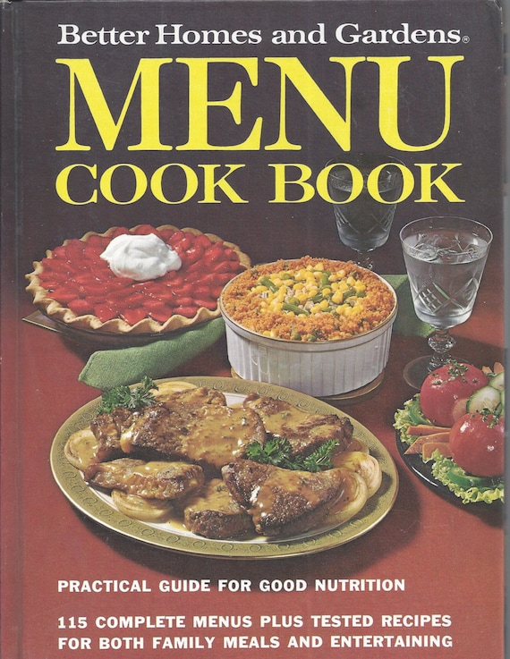 Better Homes and Gardens: Menu Cook Book (Hardcover)