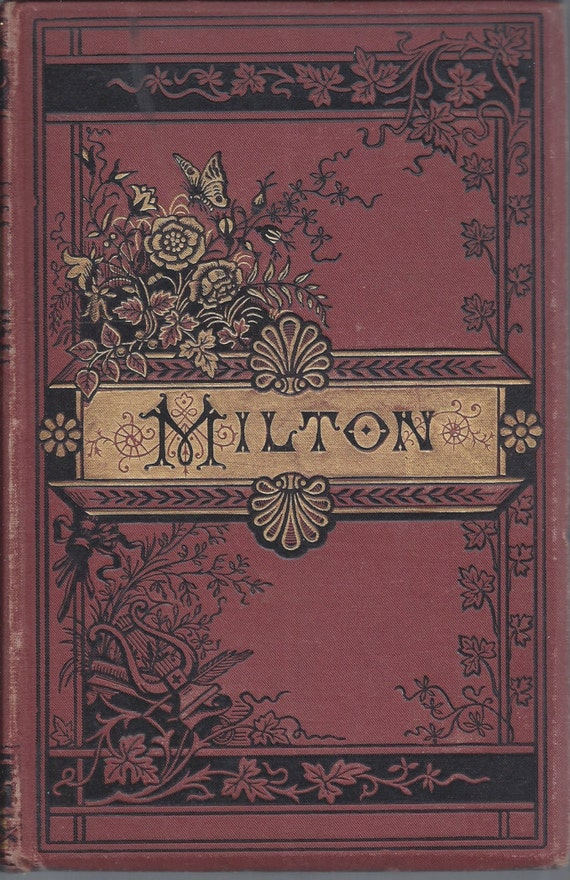JOHN MILTON  The Poetical Works of- 1886 1st edition