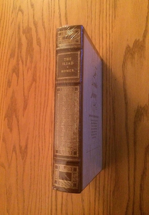 The Iliad by Homer  Leather Bound (SEALED MINT)