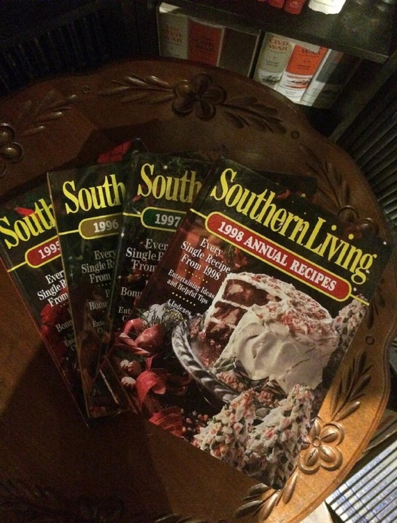 Southern Living Annual (4 book set) 1995, 1996, 1997, 1998