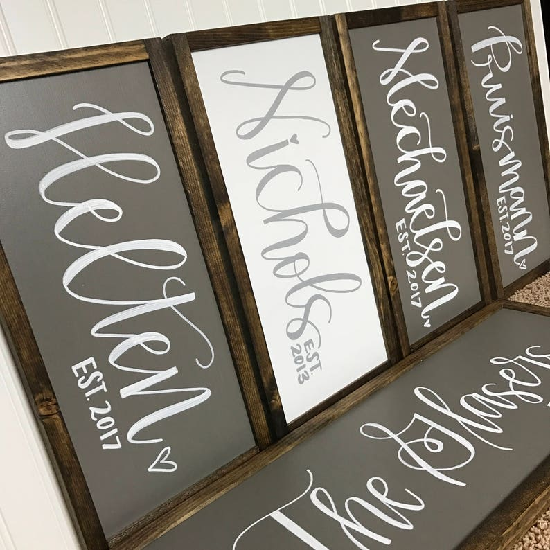 Custom Last Name Sign for Wedding New Home or Bridal Shower image 0