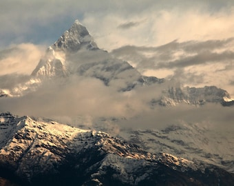 Himalayas,Annapurna: Fine Art Photography, Wall Art, Home Decor, Nepal, Zen Art, Mountain, Imagery