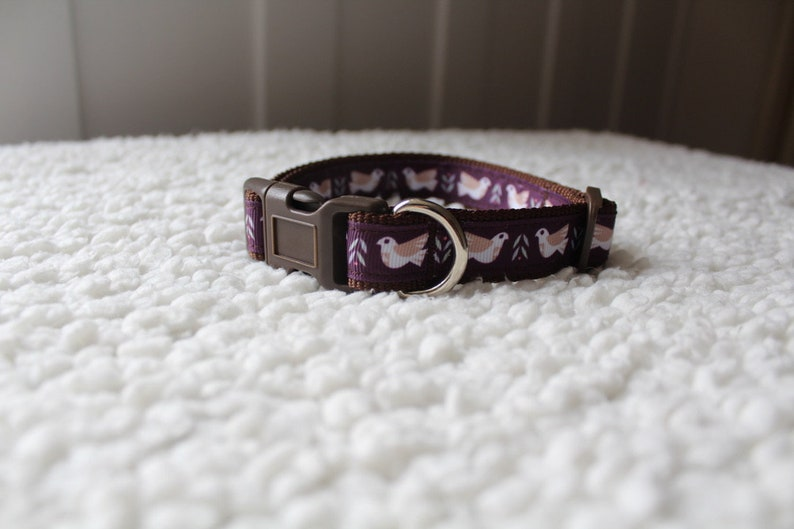 Allbreeds Dove Dog Collar /& Matching Lead  Puppy Leash Set French Bulldog Pug