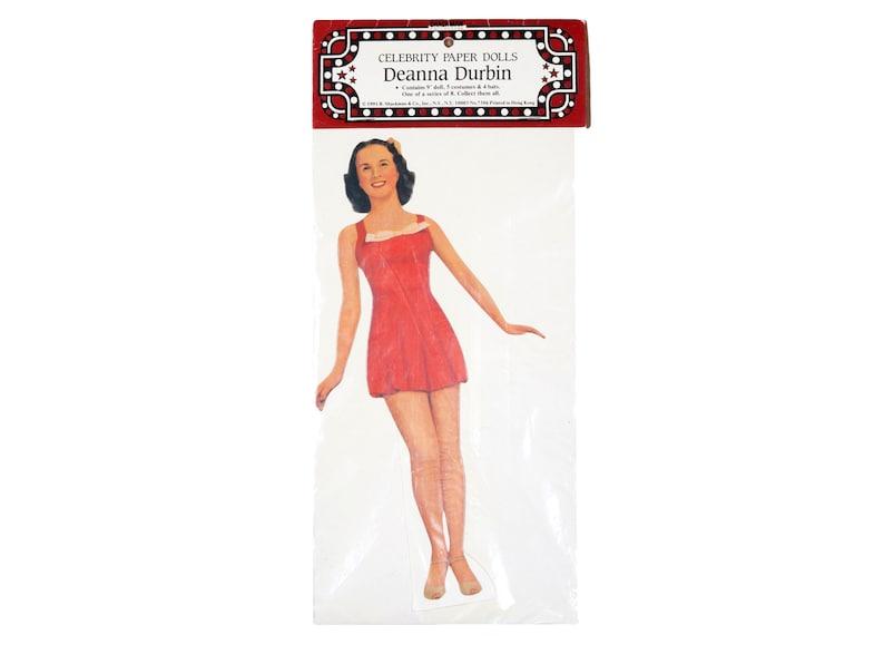 ffdcba628c3 Vintage Celebrity Paper Doll Unopened Deanna Durbin Package