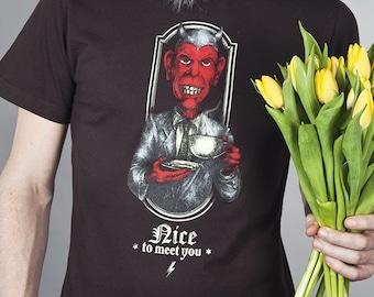 Devil - retro screenprint shirt boys hell