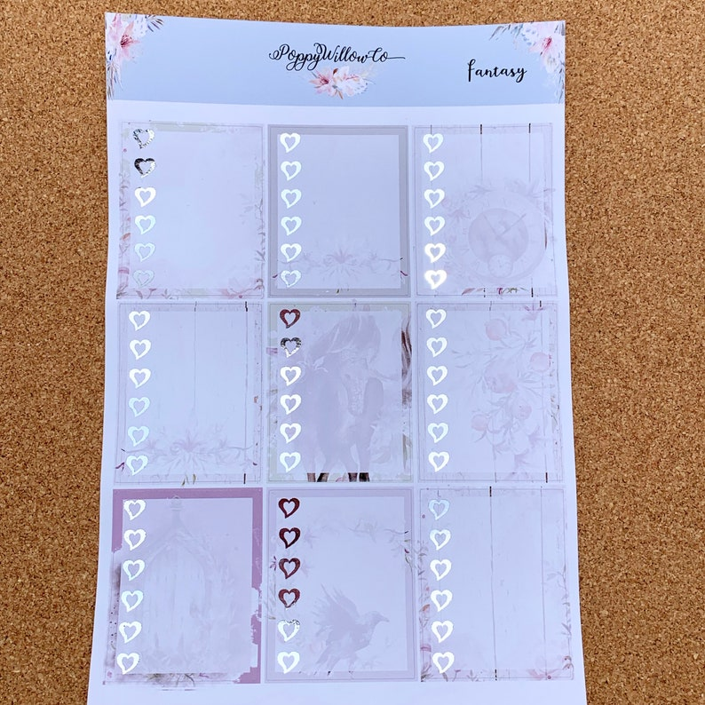 Fantasy for Erin Condren Weekly Decorative Sticker Set