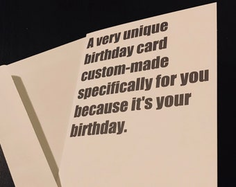 FUNNY UNIQUE BIRTHDAY card