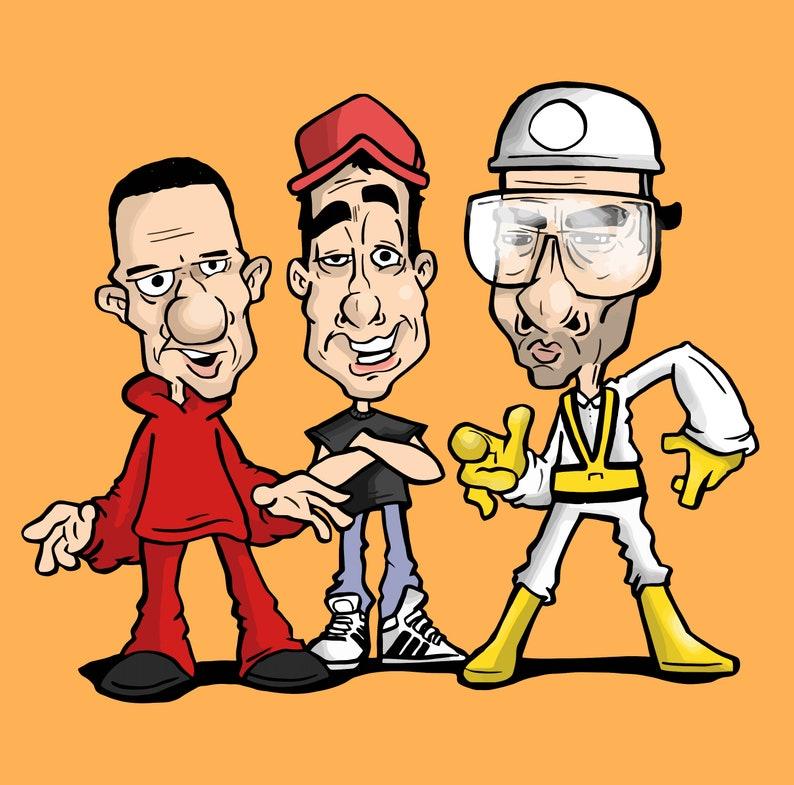 Beastie Boys Caricature Print and Sticker image 0