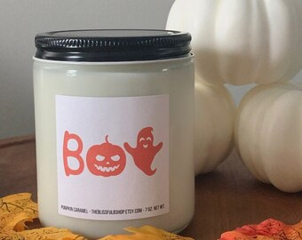 Boo Candle, Spooky Halloween Candle, Cute Halloween Candle, Funny Halloween Candle, Fall Soy Candle, Fall Home Decor Candle