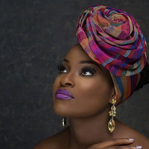 New Style Pre-Tied Gele Trending  African Gele Gele Head Wrap.Auto-gele Ajustable Ready to Wear Gele headgear.