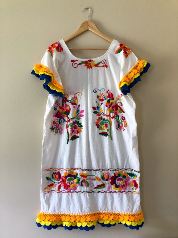 Vintage Mexican Hand Embroidered Dress