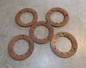 Antique Vintage Cast Iron Grain Mill Grinding Wheels, Farm Country Wall Decor