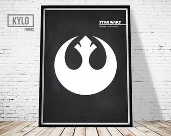 Star Wars Print, Rebel Alliance, Wall Art, Star Wars Printable, Star Wars  Fan, Printable Art, Home Decor, Insignia, Star Wars, Office Decor