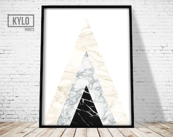 Scandinavian Print, Geometric Print, Digital Download, Abstract Print, Modern Wall Art, Home Decor, Geometric Art, Scandinavian Art, Marble
