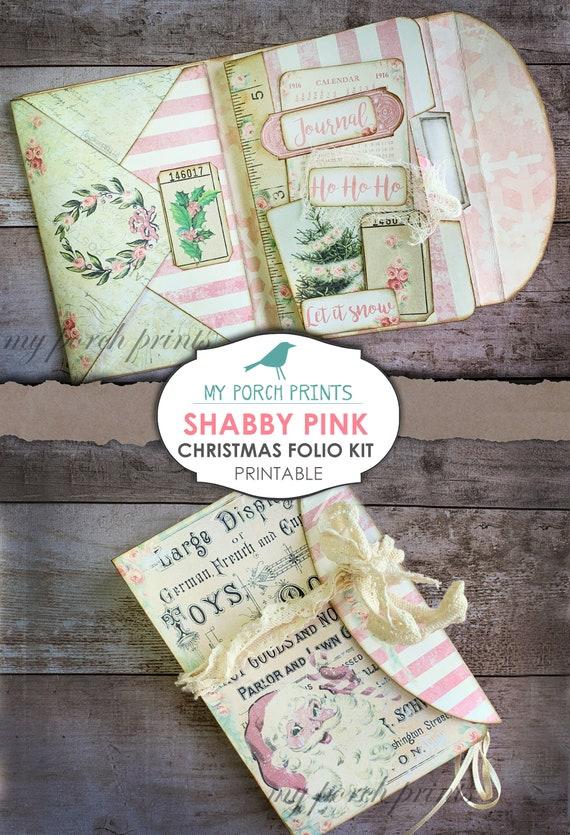 Shabbychic Pocket printable Book Mini Digital Kit Junk Journal Printable Paper Download Ephemera Vintage