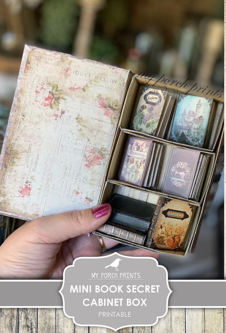 Mini Book Secret Cabinet Box Junk Journal Kit Craft Kit image 0