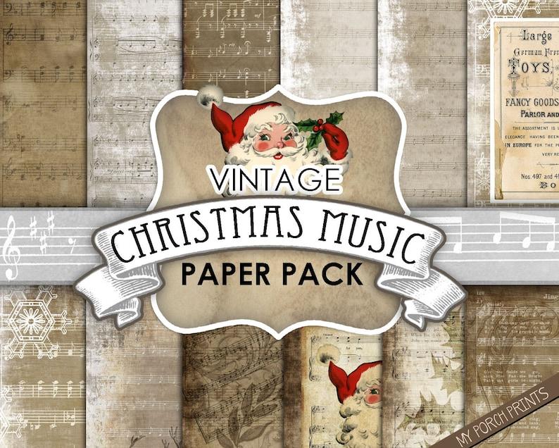 Christmas Music Sheets Printable.Christmas Music Sheet Music Printable Paper Junk Journal Scrapbook Paper 8 5 Digital Paper December Daily Grunge Santa Vintage