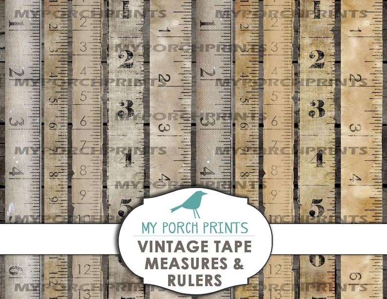 Tape Measure Sewing Junk Journal Vintage Embellishment Etsy