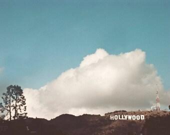 Hollywood sign, Large Wall Art Print, travel photo, Fine Art print,Cloud Photo,Home Decor,Large wall print, Hollywood Sign Photo