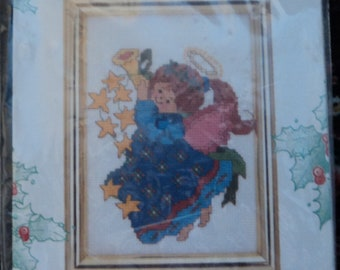 Star Angel Picture Counted Cross Stitch Kit - Candamar Designs 1994