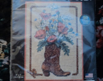 Cowboy Bouquet - Dimensions Counted Cross Stitch