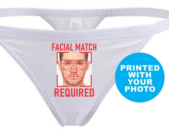 FACIAL MATCH REQUIRED Thong G String Panties Underwear Face Recognition Photo Picture Birthday Wife Wedding Gift Anniversary Lingerie Custom