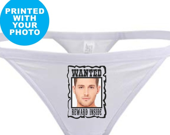 WANTED REWARD INSIDE Thong G String Panties Underwear Face Photo Picture Birthday Wife Wedding Gift Anniversary Lingerie Custom Funny Poster