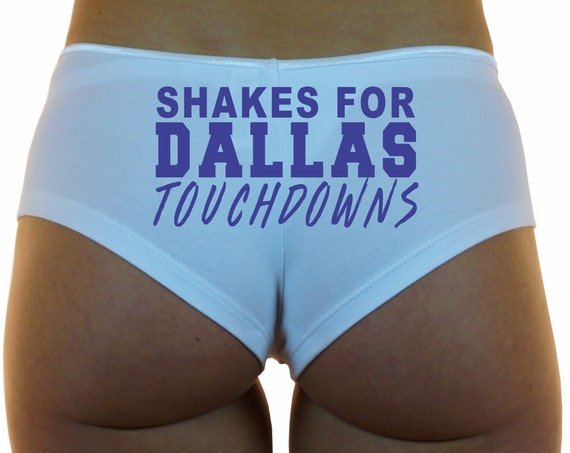 SHAKES For DALLAS TOUCHDOWNS Boyshorts Underwear Panties Booty Shorts Undies Sexy Hot Funny Butt Ass Wife Girlfriend Football Cheerleader