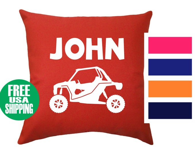 UTV NAME Pillow Cover Throw Bed Couch Sofa Infant Nursery Kid Room Baby Shower Birthday Gift Side By Side Off Road 4x4 Racing GNCC Boy Girl