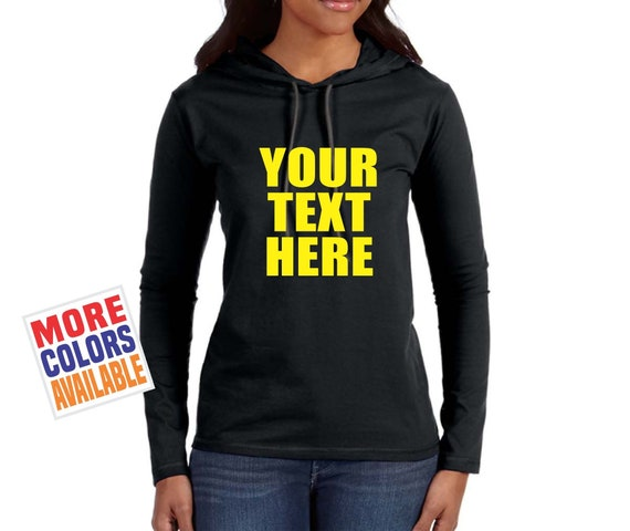 Sweat à capuche personnalisé pull léger à manches longues à capuche T Shirt personnalisé personnalisé votre texte ici impression devis équipe groupe