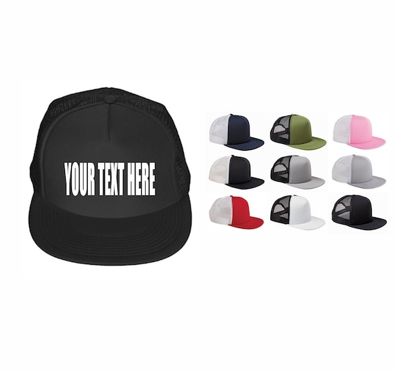 CUSTOM TRUCKER HATS Foam Front Mesh Your Text Here  e71b37eb6be