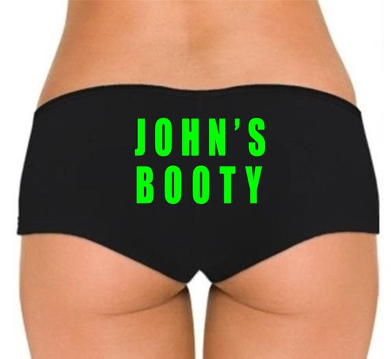 CUSTOM NAME BOOTY Boyshorts Underwear Panties Boy Shorts Undies Sexy Hot Ass Butt Custom Personalized Customized Text Husband Boyfriend Gift