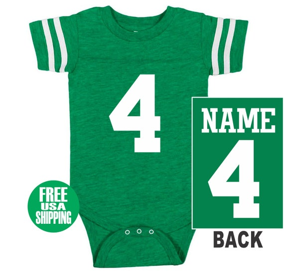 0dc3828b5 FOOTBALL JERSEY Bodysuit Baby Vintage Green w  White Shirt