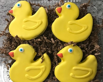 Rubber Duckies Ducks 4 pack yummy gourmet dog treats cookies birthday gift Special Day Grain free