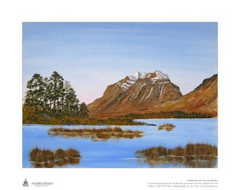 Limited edition giclee print (50), oil painting of Liathach, Torridon, Scottish Highlands, 500mm x 400mm, gift, wall art, print, Scotland