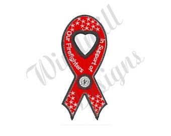 c7c396210163 Firefighter Ribbon - Machine Embroidery Design, Embroidery Designs,  Embroidery Patterns, Embroidery Files, Instant Download