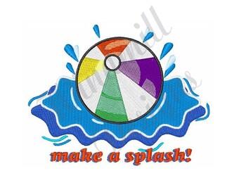 embroidery splash etsy rh etsy com Water Splash Pad Clip Art Water Splash Pad Clip Art