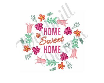 Home Sweet Home Embroidery Etsy