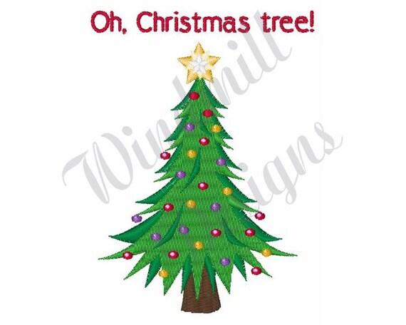 Weihnachtsbaum Stickerei Design Stickmuster Maschine Sticken Stickmuster Stickdateien Sofort Download