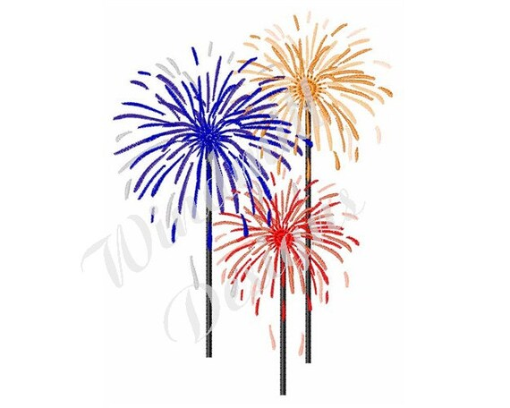 Firework Display Machine Embroidery Design Embroidery Designs Machine Embroidery Embroidery Patterns Embroidery Files Instant Download