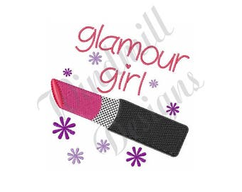Glamour Girl Lipstick - Machine Embroidery Design