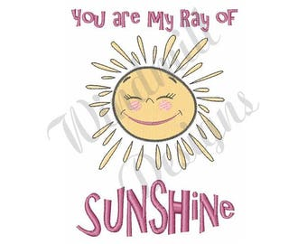 Ray Of Sunshine - Machine Embroidery Design