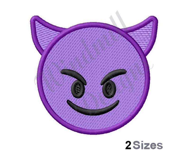 Cute Devil Emoji Machine Embroidery Design, Embroidery Designs, Machine  Embroidery, Embroidery Patterns, Embroidery Files, Instant Download