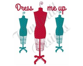 Dress Form Mannequins - Machine Embroidery Design